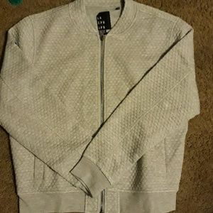 Micro quilted bomber jacket. Never worn.